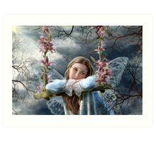 Sad fairy Art Print