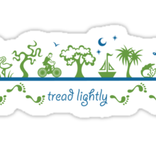 Tread lightly - version 2 Sticker