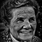 Aunt Peggy - Mono Portrait by Mike Weeks