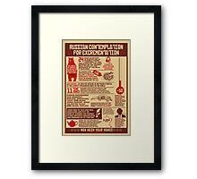 Russian Contemplation for Excrementation Framed Print