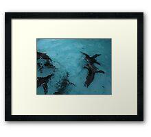 Under water: flying Framed Print