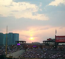 Coors Field at sunset by BLONDIELV