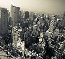 NYC - Empire State Building and Skyscrapers by Spoungeworthy
