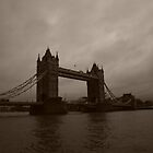 London Bridge in Sepia by dprimente