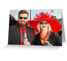 Day out at the Taree races Greeting Card