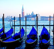 Blue venetian godolas by HappyMoonlight