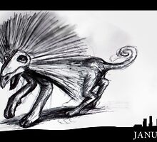 January 2nd - The spike quadroped by 365 Notepads -  School of Faces