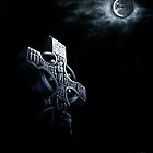 Celtic Cross In The Moonlight by Dorothy Fletcher