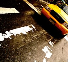 Cab Crossing - NYC by Blake Johnson