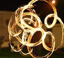 Fire Poi by Gareth Rowlands