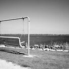 Park Bench Swing Black and White by Peter Van Egmond