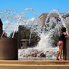 Chilling at the Fountain by Peter Van Egmond