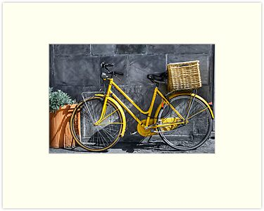 yellow bicycle by oreundici