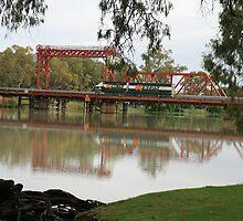 View from the River-bend Caravan Park,Paringa,South Australia. by elphonline
