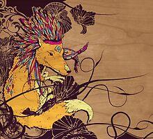 Spirit Happy Fox by whiterabbitsays