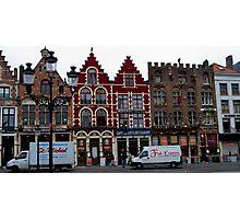 Street Scene - Bruges, Belgium Photographic Print