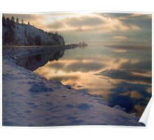 Water, Ice, Light & Highway 97 Poster