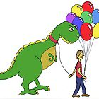 Happiness is balloons and a dinosaur by Engine-Designs