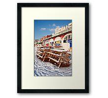 Urban snow Framed Print