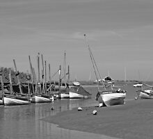 Blakeney Quay North Norfolk in Monochrome by johnny2sheds