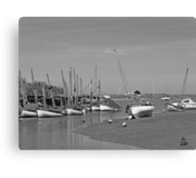 Blakeney Quay North Norfolk in Monochrome Canvas Print