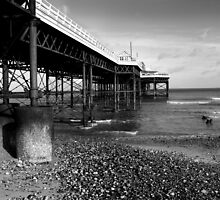 Cromer Pier in Monochrome by johnny2sheds
