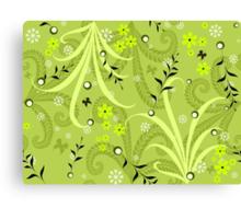 * green garden pattern * Canvas Print