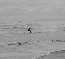 Lone Surfer by Anna Leworthy