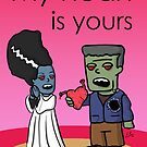 My heart is yours - Greeting Card by peabody00