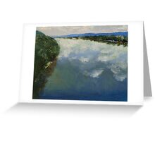 Ohio River Painting Greeting Card