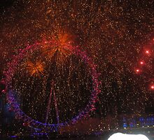 London Eye Fireworks by Frenchleather