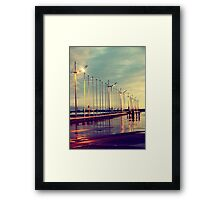 my favorite places in the world are places filled with you Framed Print