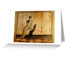 Man On A Red Swing Greeting Card