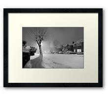 White Night Framed Print