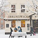 The Brunswick pub under the snow by Cvail73