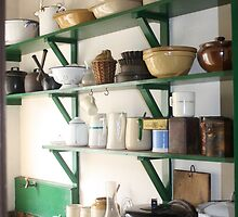 Ulster Folk Museum, Pots and Pans on the Shelf by LaurenP