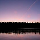 Sunset on Lake Francis- Pittsburg, NH by mmcc0713