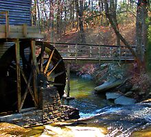 Light Filtering on the Old Mill by Janie Oliver