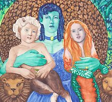 Titania and children by Kate Morris