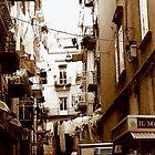 Naples Street in Sepia by Dana Roper