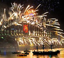 Sydney New Year Eve 2009 Fireworks - Smoke on the water & fire in the sky by Gino Iori