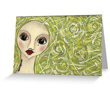 Greenhair doll Greeting Card