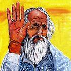 Old man in Kathmandu by Ben Cresswell