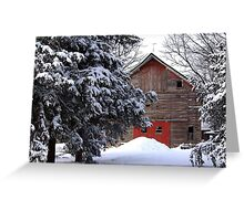 Behind the Evergreens Greeting Card
