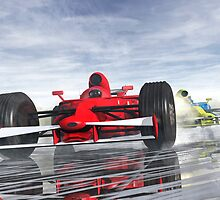 Formula one racers by Carol and Mike Werner
