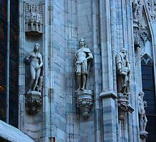 Milan. Statues on the Wall of the Duomo. Italy 2010 by Igor Pozdnyakov