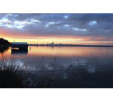 Crawley Boatshed by Sunrise Photographic Print