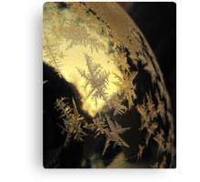 Ice Stars on Christmas Balls  Canvas Print