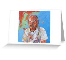 Portrait [Walt Evans ] madvlad ]of a very talented R.B.painter  Greeting Card