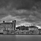 Leeds Castle Pano 1 B&W by Bob Culshaw